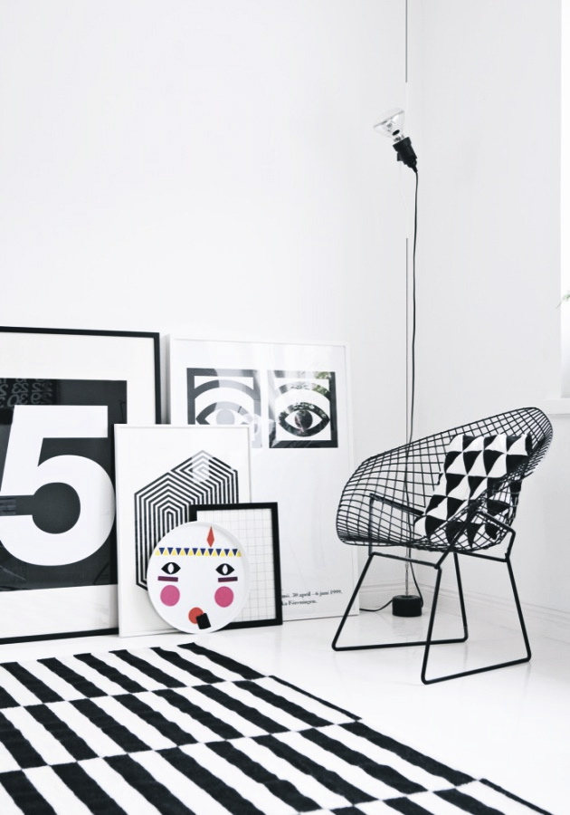 Nordic interiors and black white prints design joy for Black and white interior decor