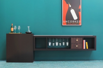 2. Creative, beautiful and also a little bit 50s little bar via Ikea Hackers