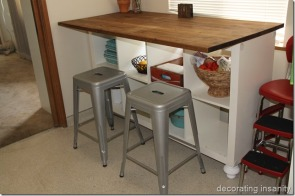 6. Practical kitchen island by Decorating Insanity