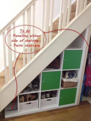 7. Staircase shelving via Barnacle's Choice