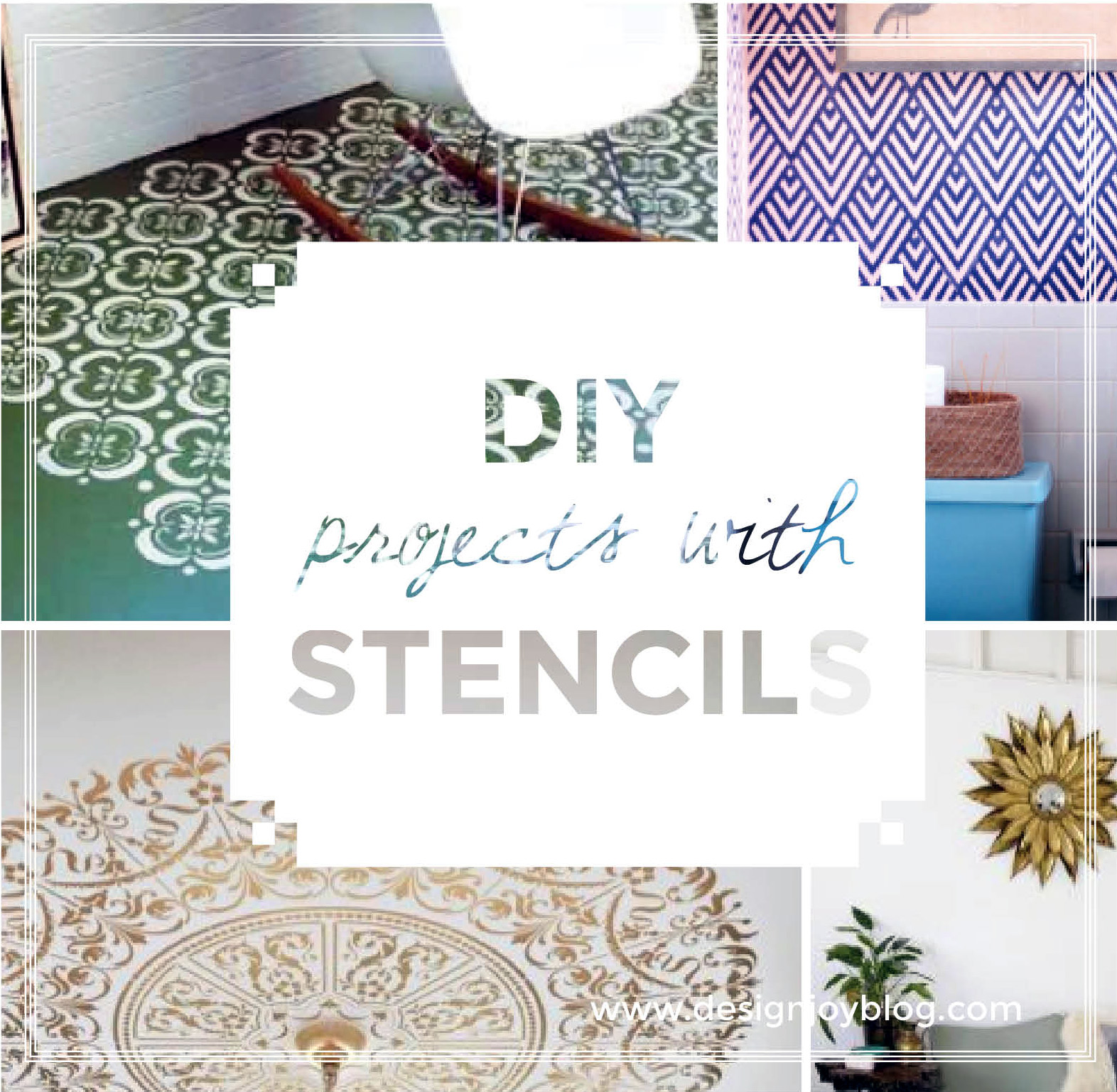 8 diy interior design makeovers using stencils design joy