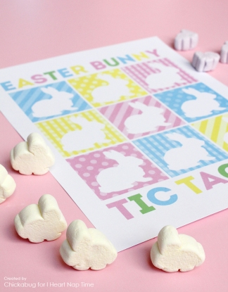 DIY Easter projects bunny tictactoe