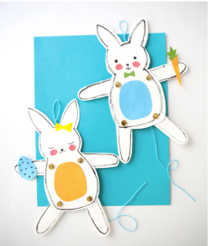 DIY Easter projects Jumping Jack Bunnies