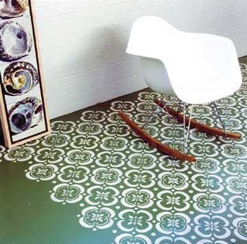 DIY stencil projects floor