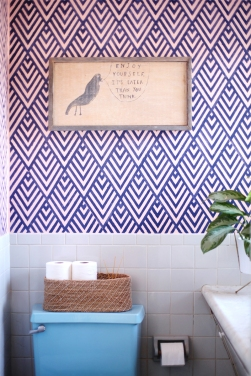 DIY stencil projects geometric wall
