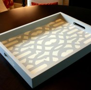 DIY stencil projects tray