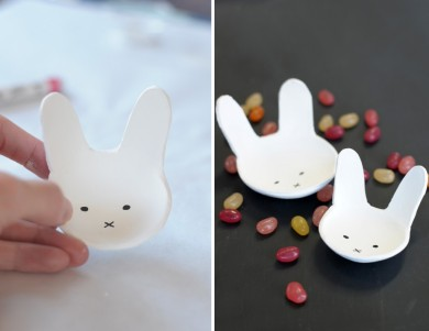 DIY Easter Projects // Bunny Clay Bowls