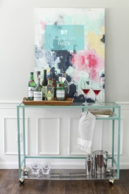 DesignJoyBlog DIY Ikea VITTSJÖ Hacks Bar Cart