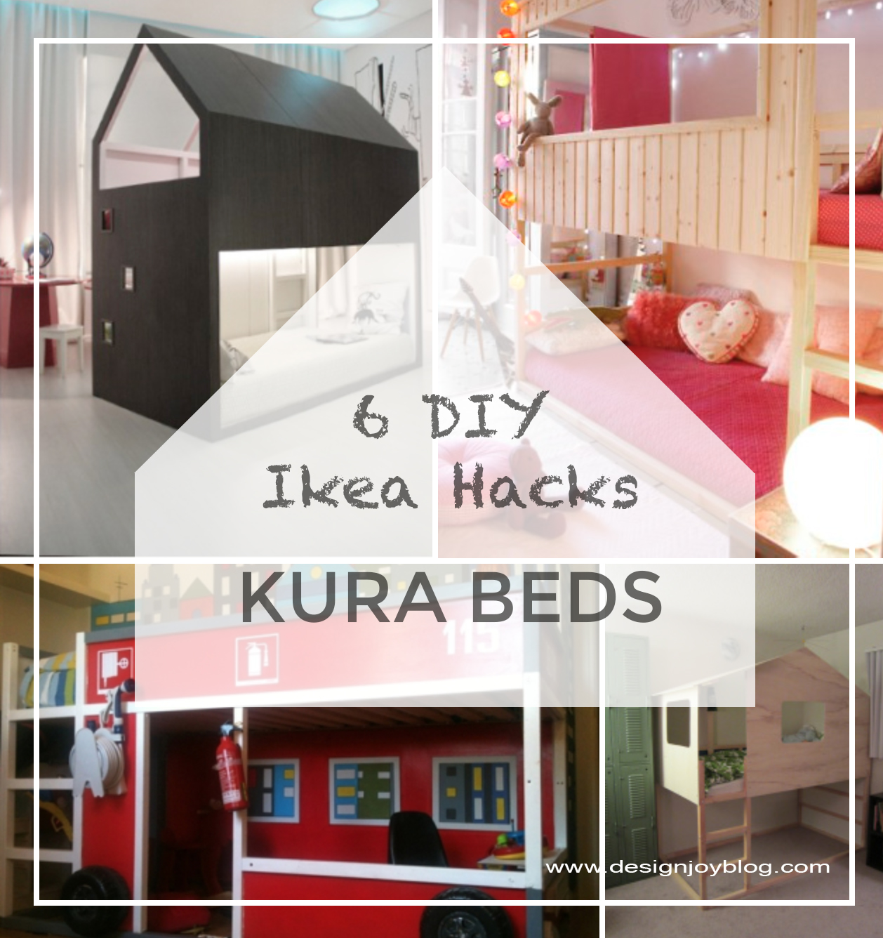 6 Ikea Hacks KURA Childrens Beds